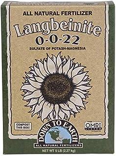 Down to Earth Organic Langbeinite Fertilizer Mix 0-0-22, 5 lb