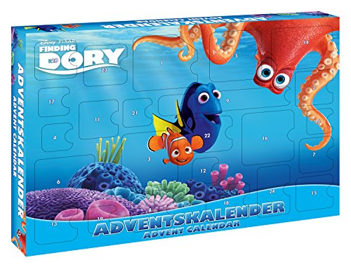 CRAZE- Pixar Calendrier de l'avent, 53974, Bleu