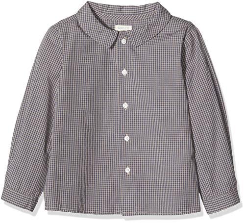 Gocco Camisa Cuadro Vichy, Marrón (Marrón Claro Me), 86 (Tamaño del Fabricante:12/18) para Bebés