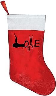Surwey Medias Colgantes,Calcetín Navideño,Medias De Navidad,Adorno Navideño,Peluquería Amor Medias Clásicas De Navidad En Rojo Y Blanco para La Fiesta De Navidad