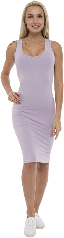 Award-winning store Lunarable Womens Cotton famous Dress Length Midi Sleeveless Knee