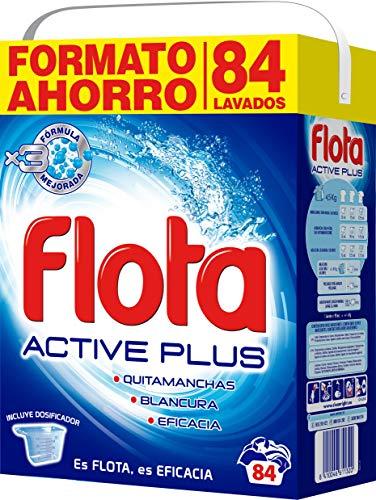 Flota Detergente Polvo Maleta Active Plus 84 Cacitos