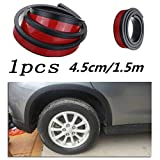 ELECTROPRIME 150cm Car Fender Flare Extension Wheel Eyebrow Arch Trim Protector Lip Strip
