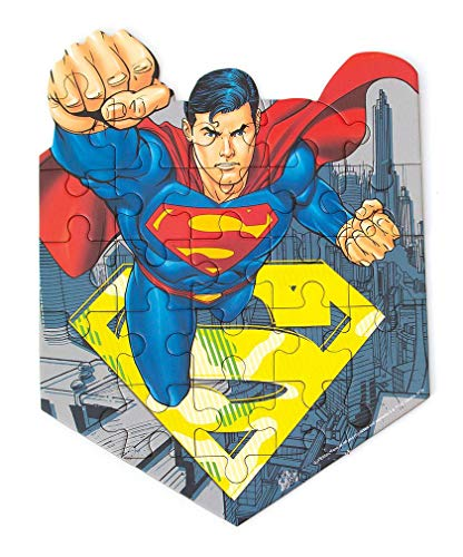 Playhouse DC Comics Superman 24-Piece Die-Cut Shaped Mini Puzzle for Kids