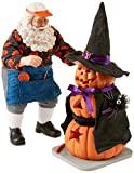 Department 56 Possible Dreams Halloween Santa and Pumpkin Witch Glow in the Dark Lit Figurine Set, 10.5 Inch, Multicolor