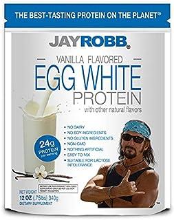 Jay Robb Vanilla Egg White Protein Powder, Low Carb, Keto, Vegetarian, Gluten Free, Lactose Free, No Sugar Added, No Fat, ...