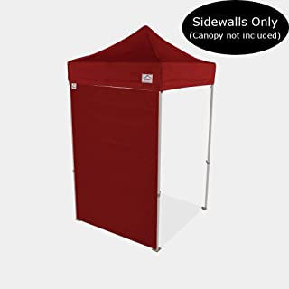 Impact Canopy 5-Foot Canopy Tent Wall, Sidewall Only, Burgundy