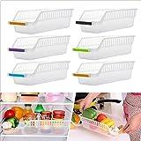 6 Stück Kühlschrankkörbe, Kühlschrank Lagerorganisator zum Sammeln von Gemüse...