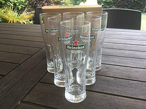 Ileauxtresors - 6bicchieri con stella Heineken, 25cl