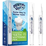 Dental Duty Teeth Whitening Pen (2 Pens), 35% Carbamide Peroxide Gel, 30+Uses, Stain Remover For Beautiful Pearl White Smile, Best Effective Tooth Whitener, Bright Flawless Smile, Natural Mint Flavor.