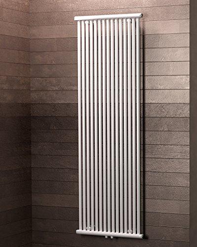 Schulte Design-Heizkörper Kiel, 180 x 60 cm, 1232 Watt, Mittelanschluss, alpin-weiß, Wohnraum-Heizkörper für Zweirohrsysteme