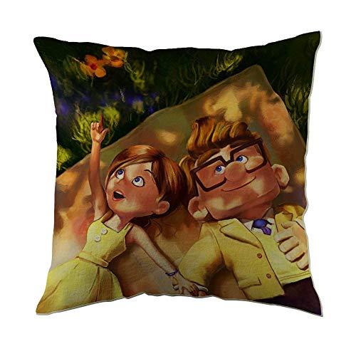 Sabalone Fundas de Almohada Disney Pixar Carl y Ellie up Movies (18'x18)
