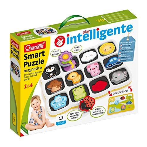 Quercetti-Quercetti-0231 Smart Puzzle Premiers Mots et Couleurs, Jouets d'activité et d'éveil, 0231
