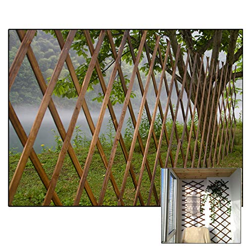 LJIANW Garden Fencing, Garden Fence, Grid Protection Stop Animals Protect Vegetables, Collapsible Adjustable For Balcony Deck Vegetable Garden, 3Sizes (Color : Beige, Size : 30x185cm)