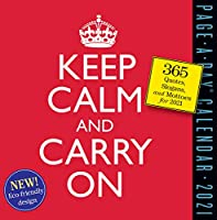 Keep Calm and Carry On Page-A-Day カレンダー 2021 [6インチ x 6インチ]