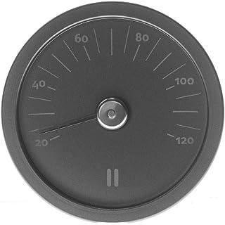 Rento Thermomètre Rond Noir en Aluminium pour Sauna