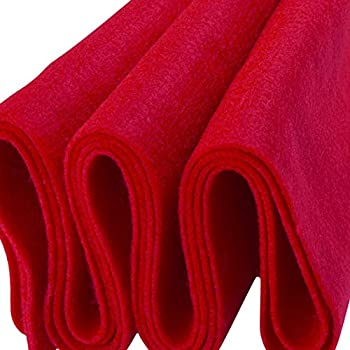 red felt fabric roll
