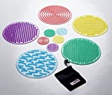 TickiT 54517 SiliShapes Sensory Circle Set - Set of 10 silicone circles for sensory exploration