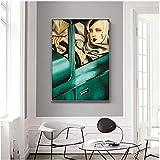 YL–wallart Cartel Moderno 50x70cm sin Marco Artista Tamara De Lempicka Reproducción de Obras de Arte clásicas Carteles Impresiones Cuadros de Pared para decoración del hogar