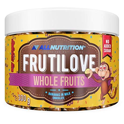 ALLNUTRITION FRUTILOVE WHOLE FRUITS BANANANAS EN MILK CHOCOLATE son deliciosos y cuidadosamente...