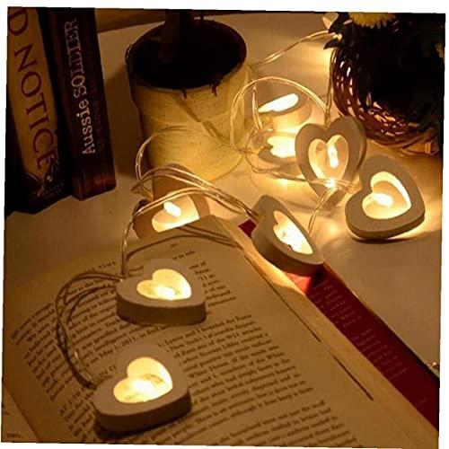 10 Led Luces De Madera del Corazón De Cuerda Decoraciones De Navidad para Home Decoraciones De Luces De La Decoración De La Boda La Fiesta De Cumpleaños