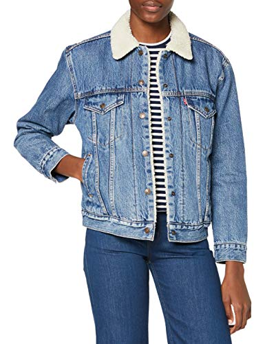 Levi's Ex-BF Sherpa Trucker Chaqueta Vaquera, Azul (Addicted Two Love 0005), XX-Small para Mujer