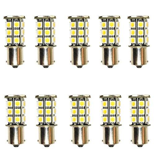balikha 10 Piezas Coche RV Remolque 1156 BA15S 5050 27 SMD Lámpara de Luz LED de