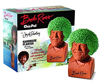 Chia Pet Bob Ross with Seed Pack Decorative Pottery Planter Easy to Do and Fun to Grow Novelty Gift Perfect for Any Occasion