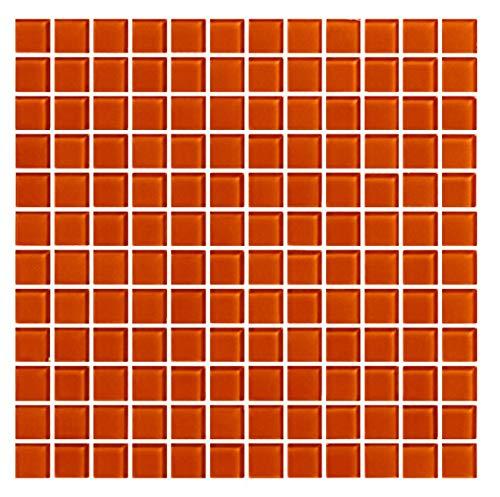 Cottoceram Mosaico enmallado de Cristal 30x30cm. Color Rojo