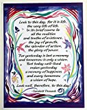 Look to this day 8x11 Sanskrit Proverb poster - Heartful Art by Raphaella Vaisseau