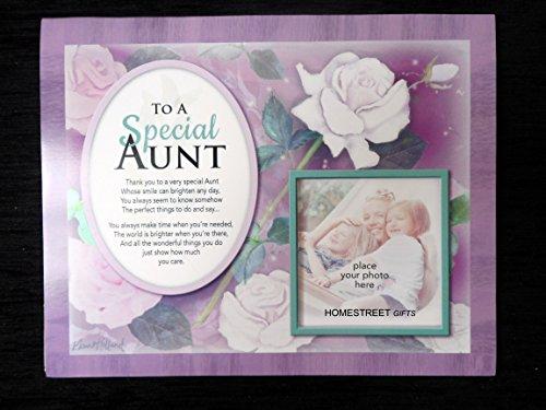 Homestreet cadeau voor een speciale tante of tante bloemrijke familie & vrienden foto Mount met een mooi vers