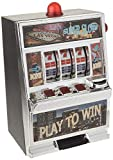 12.5' Large Play To Win Slot Machine Figurine - Black & Aluminum