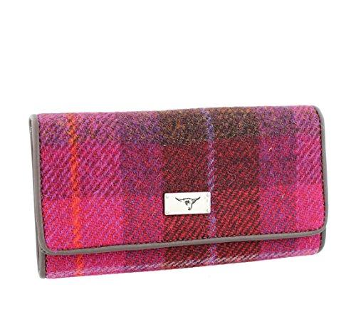 Glen Appin Harris Tweed Damen Lang Umstülpen Geldbörse LB2106 Köster - Farbe 52 Tief Pink
