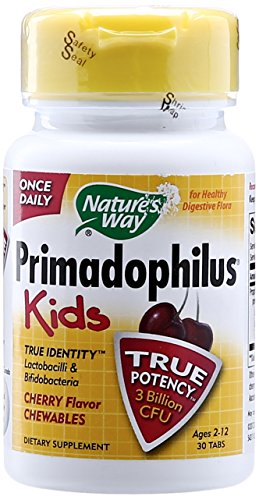 Nature's Way Primadophilus Kids, Cherry Flavor Chewable, 30 ct