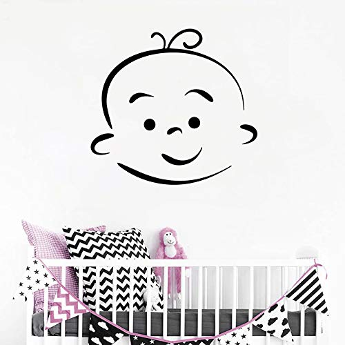 woyaofal Lovely Baby Kids Wall Decal Vinyl Cartoon Baby Wall Stickers for Kids Rooms Decor Bedroom Nursery Mural Poster Decoration 25X27CM