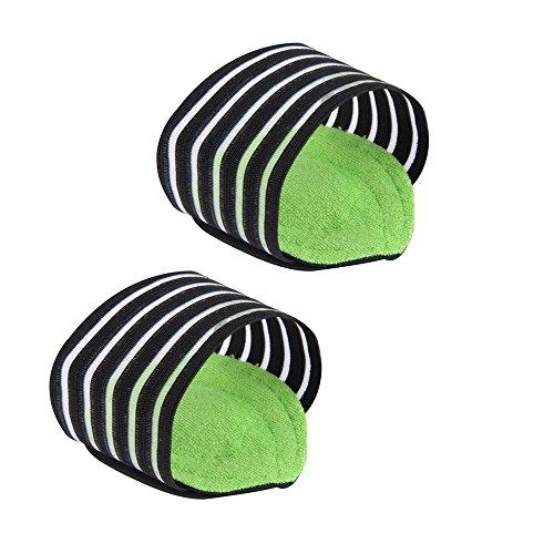 Wmchiwan Fußgewölbe Einlegesohlen Plantar Fasciitis Elastische Bandage Bogen Plattfuß Orthotics Massage-Auflage-Einlegesohlen Fuss Sleeves