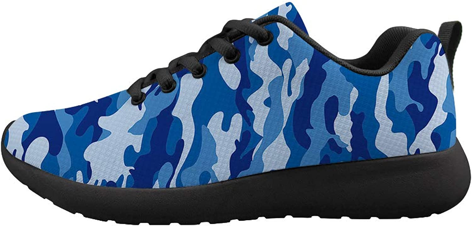 Owaheson Cushioning Sneaker Trail Running shoes Mens Womens Navy Uniform Camouflage
