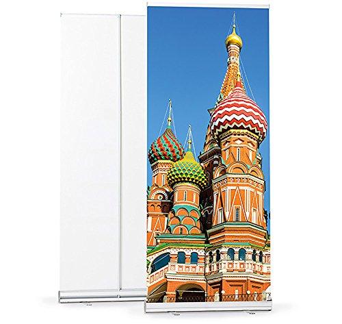 Roll Up Display 85 x 200 cm - HD-Druck in 1.200 dpi, mit hochwertiger Transporttasche