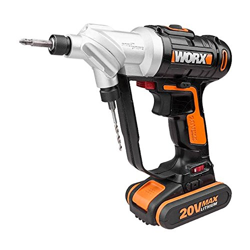WORX WX176 18V 20V MAX Switchdriver Cordless Drill with 15 Peice Accessory Kit