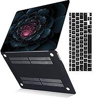 MSXUANプラスチック製のハード保護シェルカバーケース+USキーボードカバーは古いMacBook Pro 13インチのみに対応、CD-ROMなし、Retinaディスプレイ付き(2012-2015リリース)(モデル:A1425 A1502)、花シリーズ 159