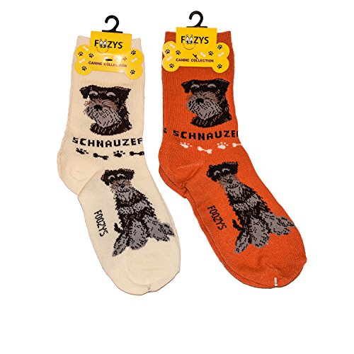 Foozys Unisex Crew Socks | Canine/Dog Collection | Schnauzer