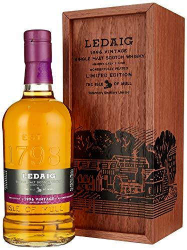 Ledaig Vintage 1996 Limited Edition Whisky in hochwertiger Holzschatulle (1 x 0.7 l)