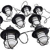 DECTRONIC - Catena luminosa a energia solare, 10 lanterne LED, illuminazione per feste, giardino, casa