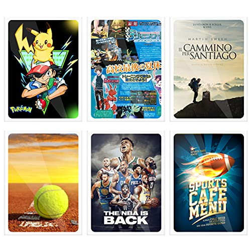 100 Packs Card Sleeves for Trading Card, Standard Size Soft Clear Baseball Card Sleeves Fit for Football Card, Baseball Card, Sports Cards, MTG, Yugioh, Pokemon Card 3.7x2.7 Inches