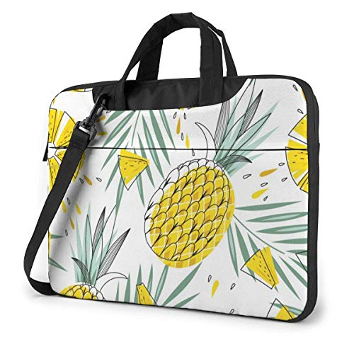 Tropical Plants Pineapple Funnny (57) 15.6 in Laptop Bag Anti-Collision Notebook Computer Protective Cover Handbag Shoulder Bag
