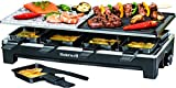 Homewell Raclette Tabletop Grill for Indoor BBQ / Outdoor Grilling Portable Electric 1500W