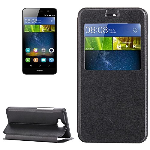 Zakelijke Stijlvolle PU lederen Cell Phone Case For Huawei Geniet 5 / MEES-AL00 Horizontale Flip lederen tas met Holder & Nummeridentificatieservice ID Telefoon Cover voor mannen vrouwen