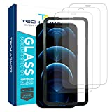 Tech Armor Ballistic Glass Screen Protector for Apple NEW iPhone 12 Pro Max (6.7') - Case-Friendly Tempered Glass [3-Pack], Haptic Touch Accurate Designed for iPhone 12 Pro Max (6.7')