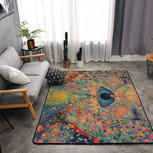 Zen Buddha Trippy Area Rug Ultra Soft Cozy Rectangle Rugs 2x3 Feet, Luxury Indoor Non-Slip Floor Carpet for Home, Nursery, Bed and Living Room