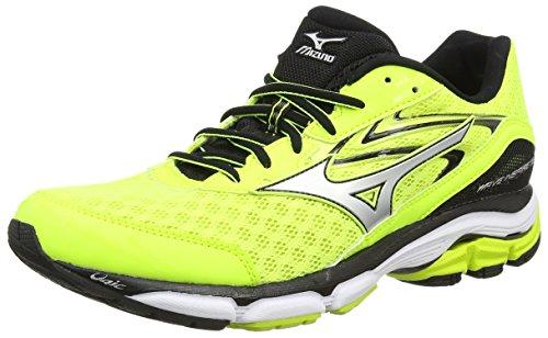 Mizuno Men's R613B53 Wave Inspire 12 Yellow/Silver/Black Running Shoes-9 UK/India (43 EU) (J1GC164407)